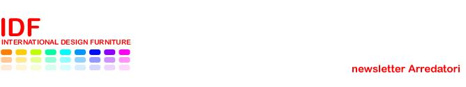 IDFdesign newsletter Arredatori - Luglio 2015