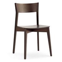 Sedia in legno con seduta imbottita