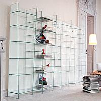 Libreria modulare in vetro