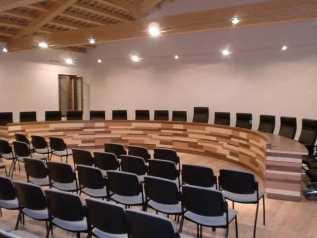 La sala conferenze del Comune di Gaiarine