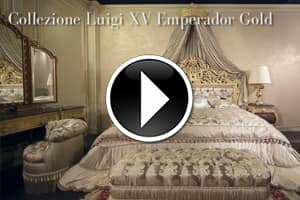 The luxury double bed Emperador Gold