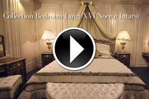 Classic bedroom in walnut Louis XVI
