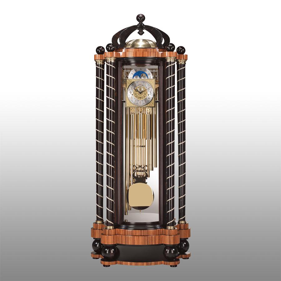 Orologio Con Pendolo Bifacciale In Ebano Con Pietre Preziose Idfdesign