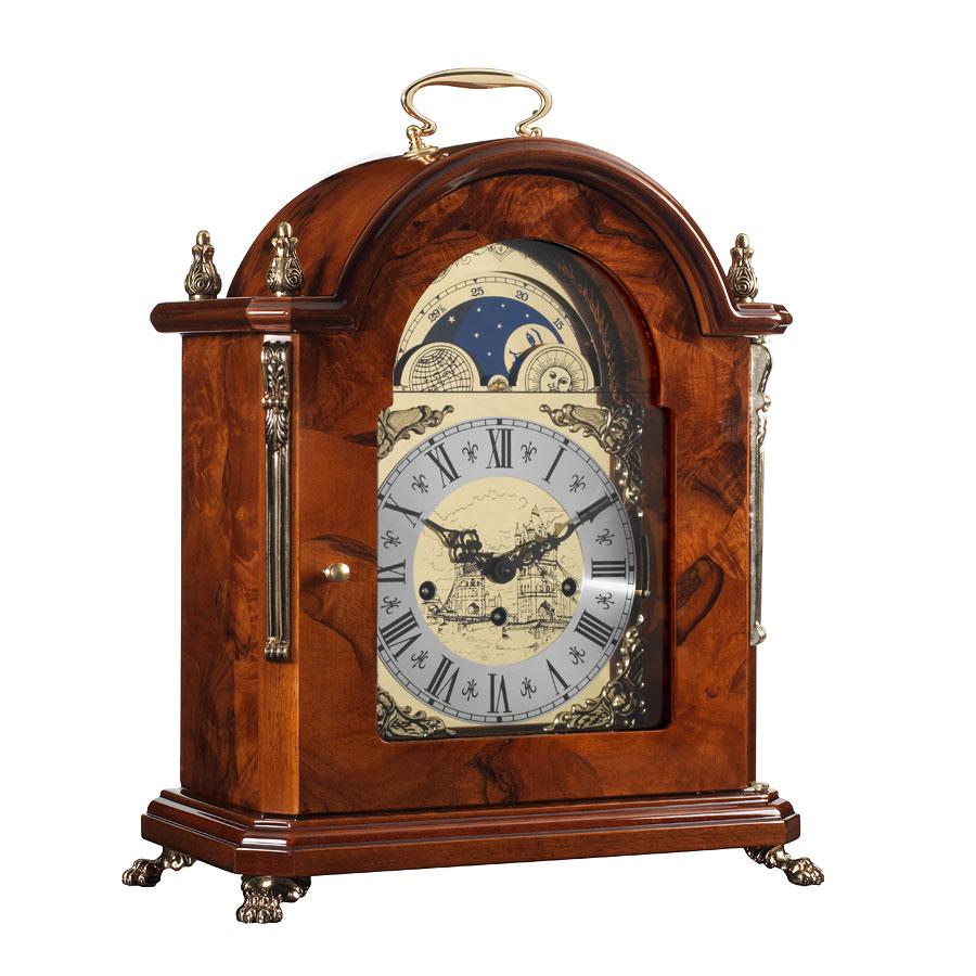 Orologio da tavolo di lusso in radica a mosaico di noce - Dalvey orologio da tavolo ...