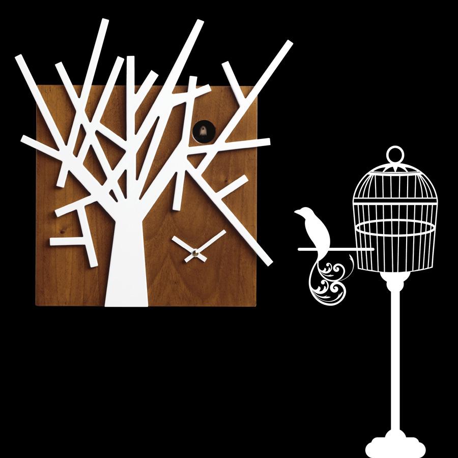 Orologio a forma di albero a cuc in legno per salotto - Orologio cucu design ...