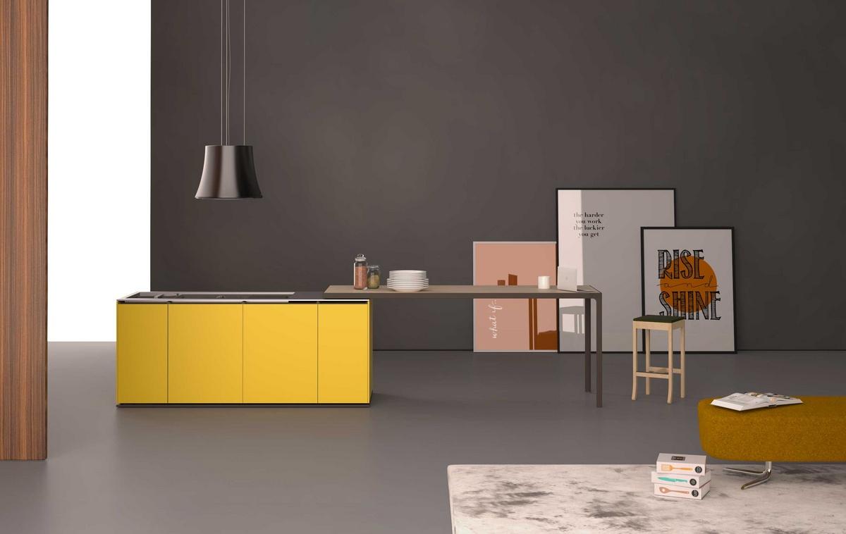 Monoblocco con cucina e tavolo scorrevole | IDFdesign