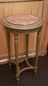 1135 TAVOLINO, Tavolino con piano in marmo, prezzo outlet