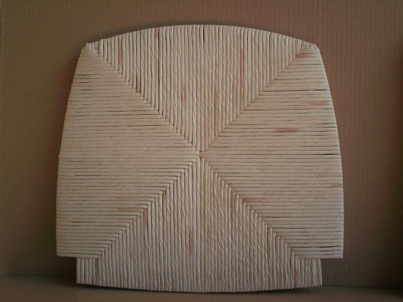 seduta mais bianco, Seduta per sgabello, per sala da pranzo rustica