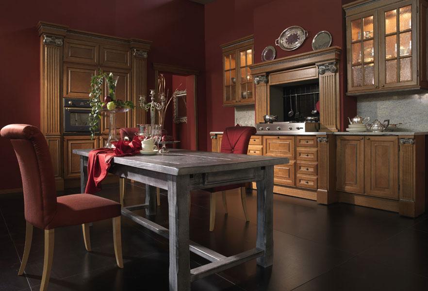 Demetra, Cucina di lusso, su misura, stile classico