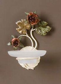 AB.8070, Portasapone da parete con decorazioni floreali