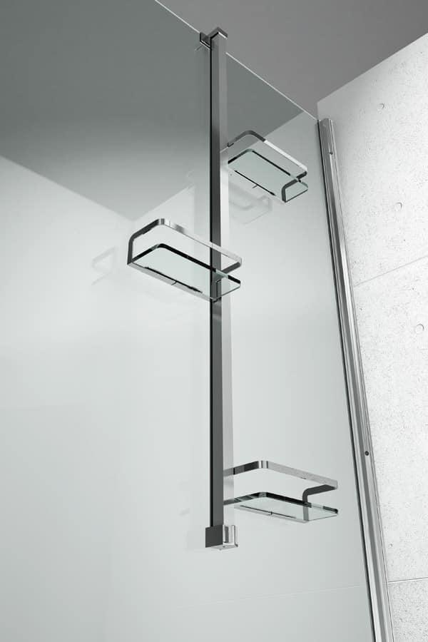 Accessorio da doccia, installabile a parete o ad angolo ...