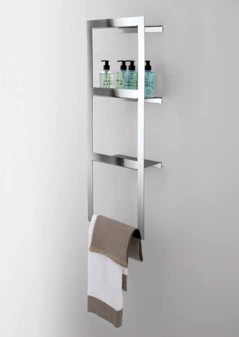 Pensile a giorno con portasalvietta per bagno idfdesign - Pensili per bagno ...