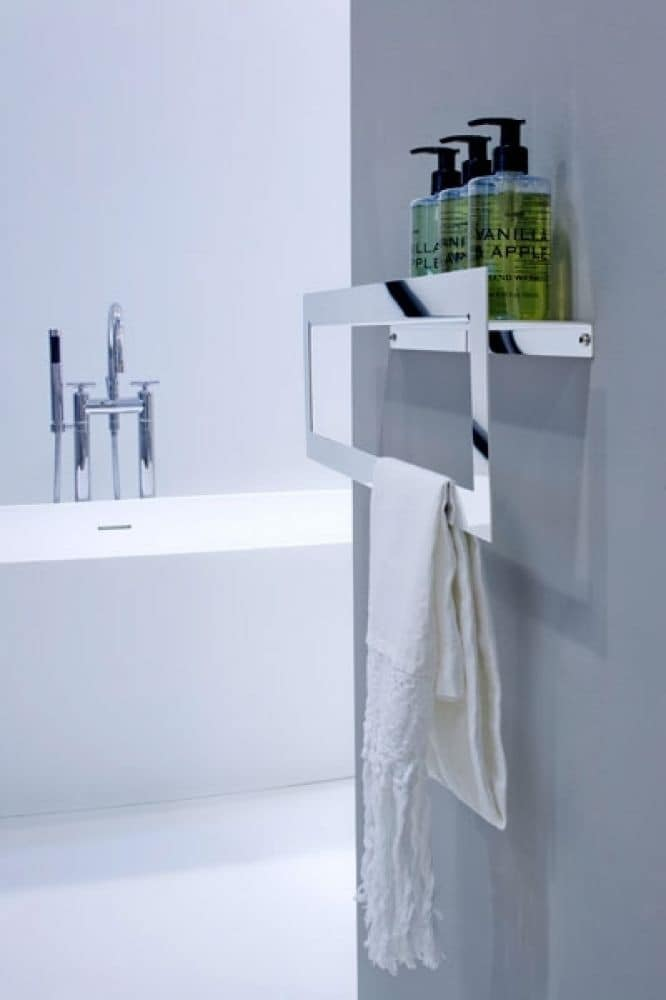 Accessori Bagno Design Minimale : Porta asciugamano in acciaio inox idfdesign