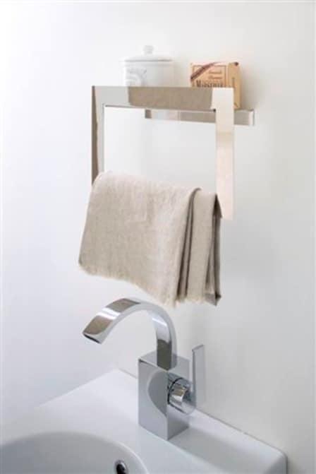 Porta asciugamano in acciaio inox idfdesign - Tovaglie da bagno ...