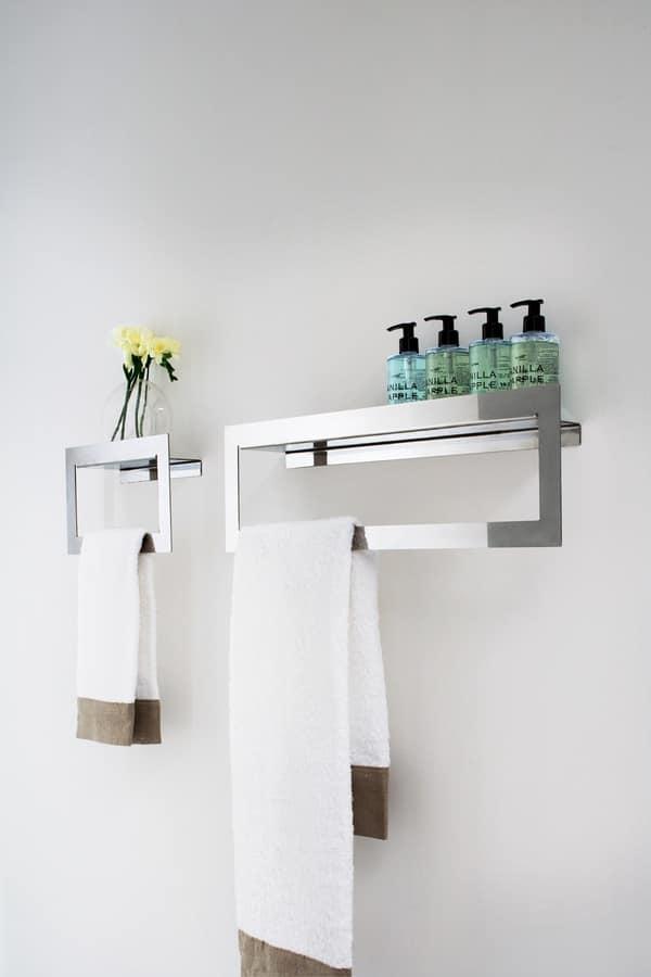 Porta asciugamano in acciaio inox idfdesign - Accessori bagno acciaio ...