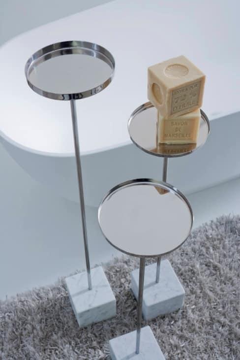 Porta sapone in acciaio inox per vasca o doccia idfdesign - Porta saponi doccia ...