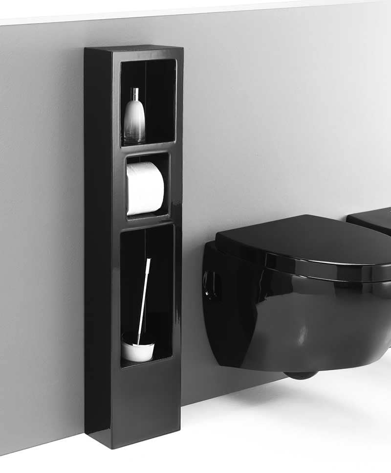 colonna portaoggetti per bagno in ceramica idfdesign. Black Bedroom Furniture Sets. Home Design Ideas