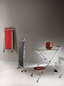 Art. 805 Trolley, Carrello multiuso chiudibile, per alberghi e case moderne