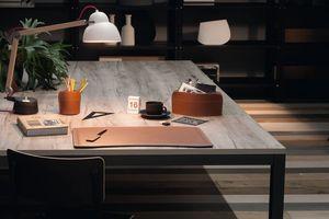 Brando 4pz, Portapenne, tagliacarte e tappetino per scrivania