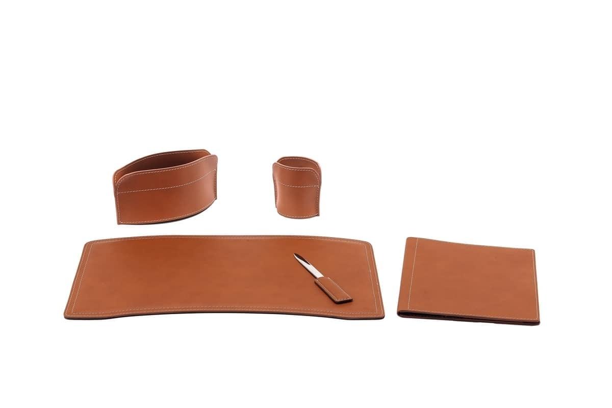 Ufficio Elegante Uk : Elegante collezione di accessori per scrivania in cuoio rigenerato