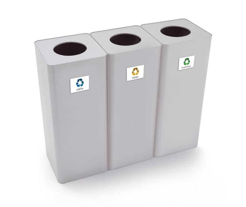 Contenitori in acciaio per la raccolta differenziata - Contenitori raccolta differenziata per casa ...