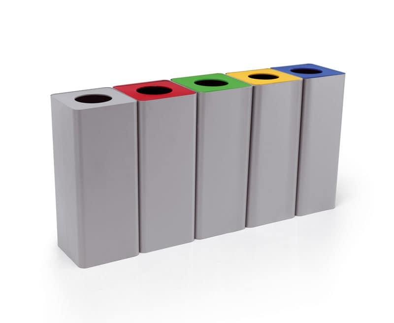 Contenitori in acciaio per la raccolta differenziata for Contenitori raccolta differenziata brico