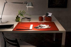 Ebe 5pz, Accessori in cuoio per scrivania ufficio