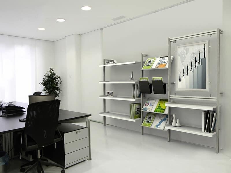 Libreria scaffali componibili b scaffali a parete con for Scaffali per ufficio ikea