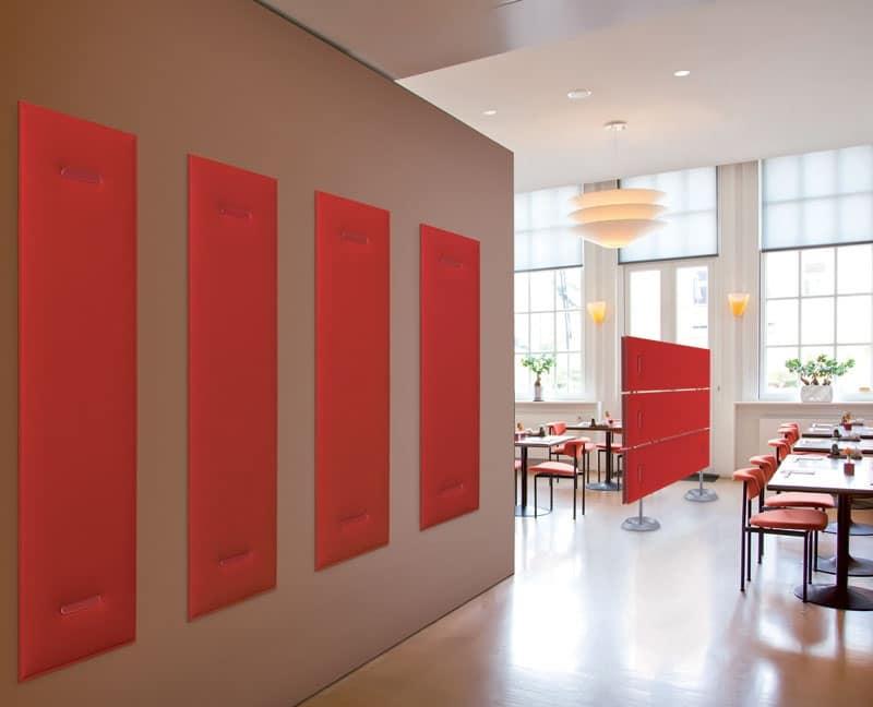Pannelli fonoassorbenti multicolore con imbottitura in for Accessori design ufficio