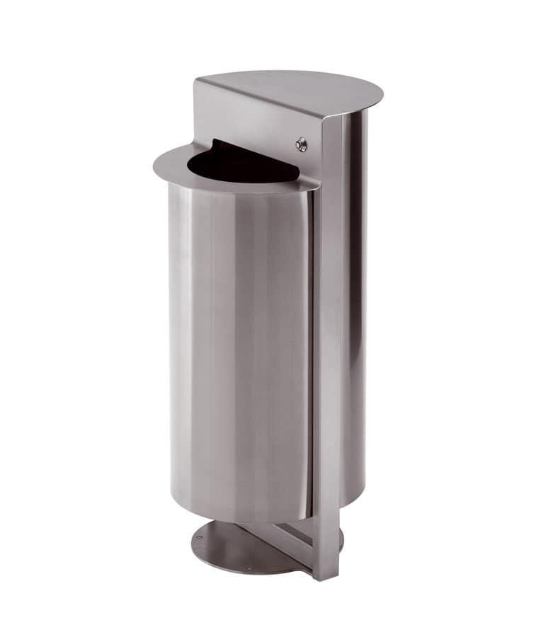 Posacenere in acciaio con fermasacchetto per esterno for Esterno o externo