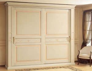 Art. 2004 Canova, Armadio di lusso, con ante scorrevoli, per camera da letto classica