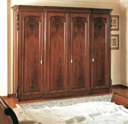 Art. 294 armadio '800 Siciliano, Armadio lavorato a mano, per camera d'albergo classica