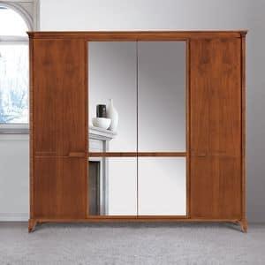 Art. 320 armadio, Armadio in stile classico, con specchiera
