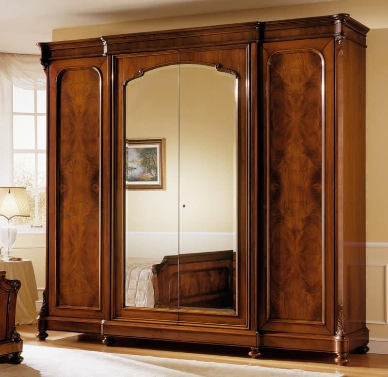 Armadio in legno di noce classico di lusso con - Camera da letto in noce ...