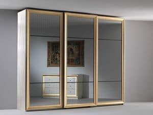 Jolie armadio, Armadio elegante, tre ante scorrevoli a specchio, per la zona notte