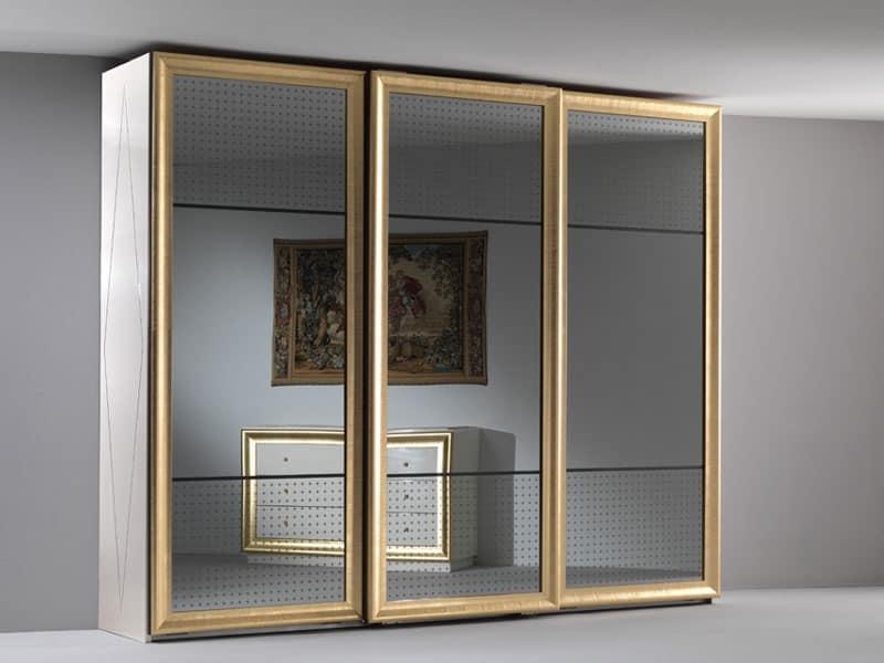 Armadio elegante tre ante scorrevoli a specchio per la for Tomaselli armadi