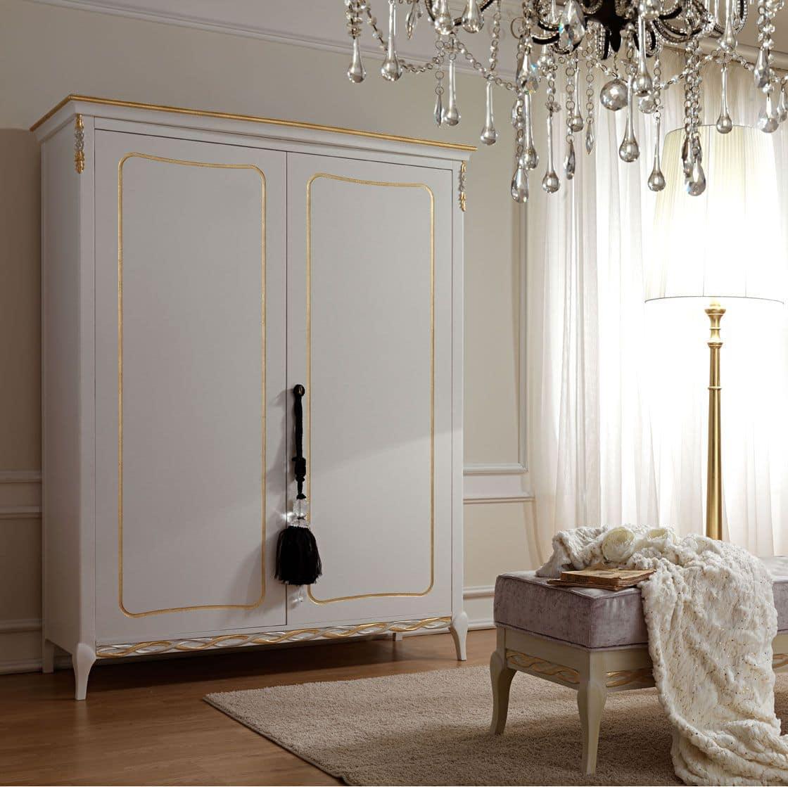 Armadio guardaroba in stile classico in legno a 2 o 4 for Guardaroba ingresso