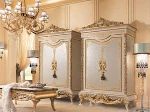 Royal Armadio, Armadio in legno lavorato a mano, per alberghi di lusso