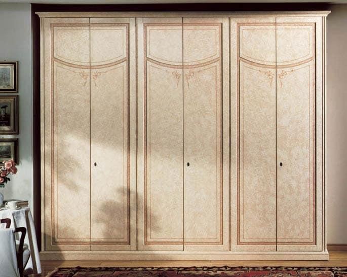 guardaroba di lusso in legno laccato a 6 ante idfdesign