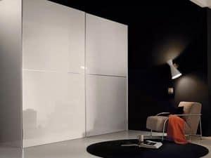 Anfiteatro, Armadio ad ante scorrevoli, design moderno, per camere da letto