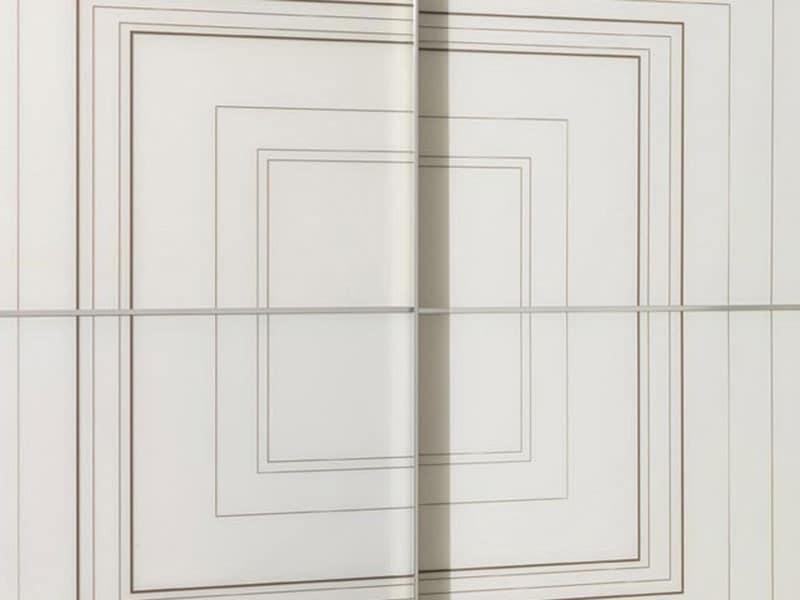 Armadio con porte scorrevoli con vetro serigrafato idfdesign - Armadio con porte scorrevoli ...