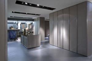 App Look, Armadio a muro moderno ideale per camere da letto o cabine armadio