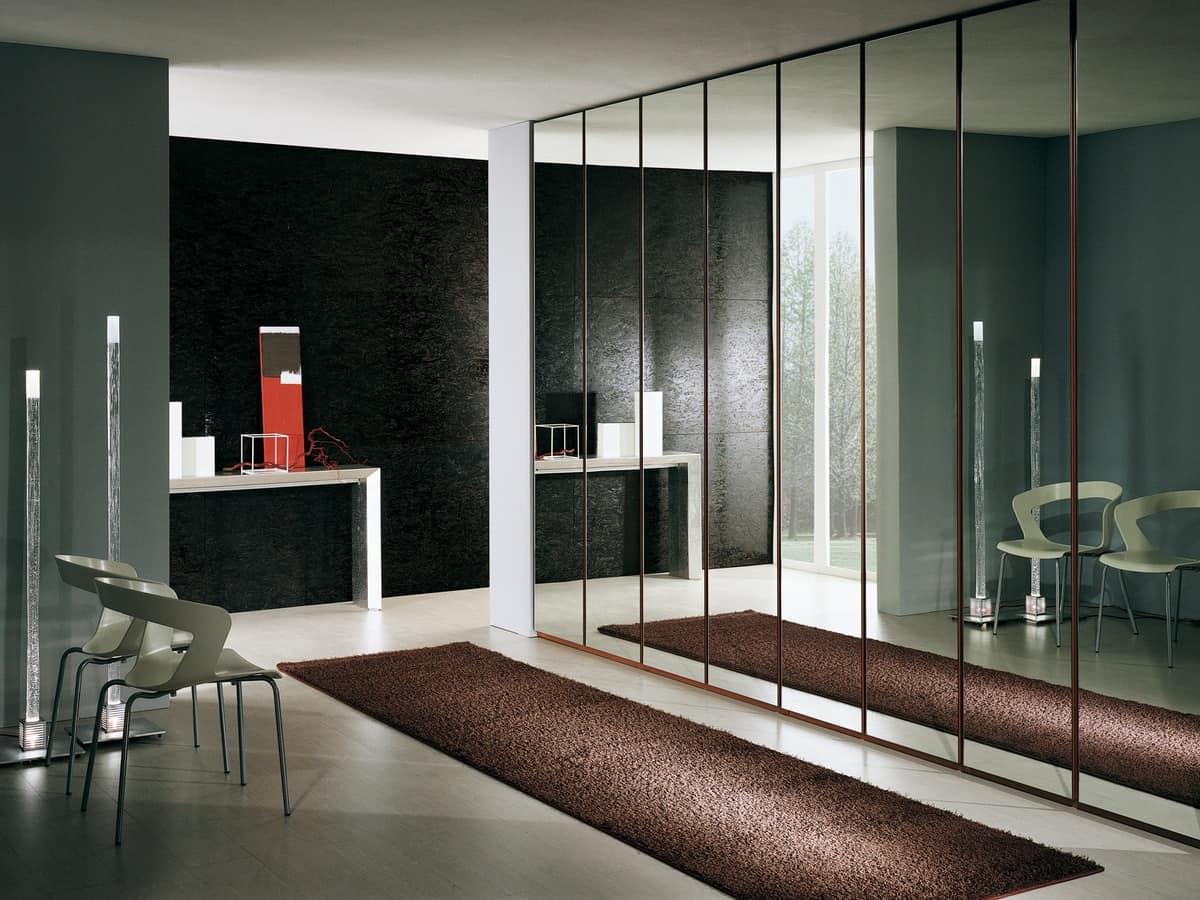 Armadio moderno rivestito con specchi elegante e robusto for Armadi design moderno