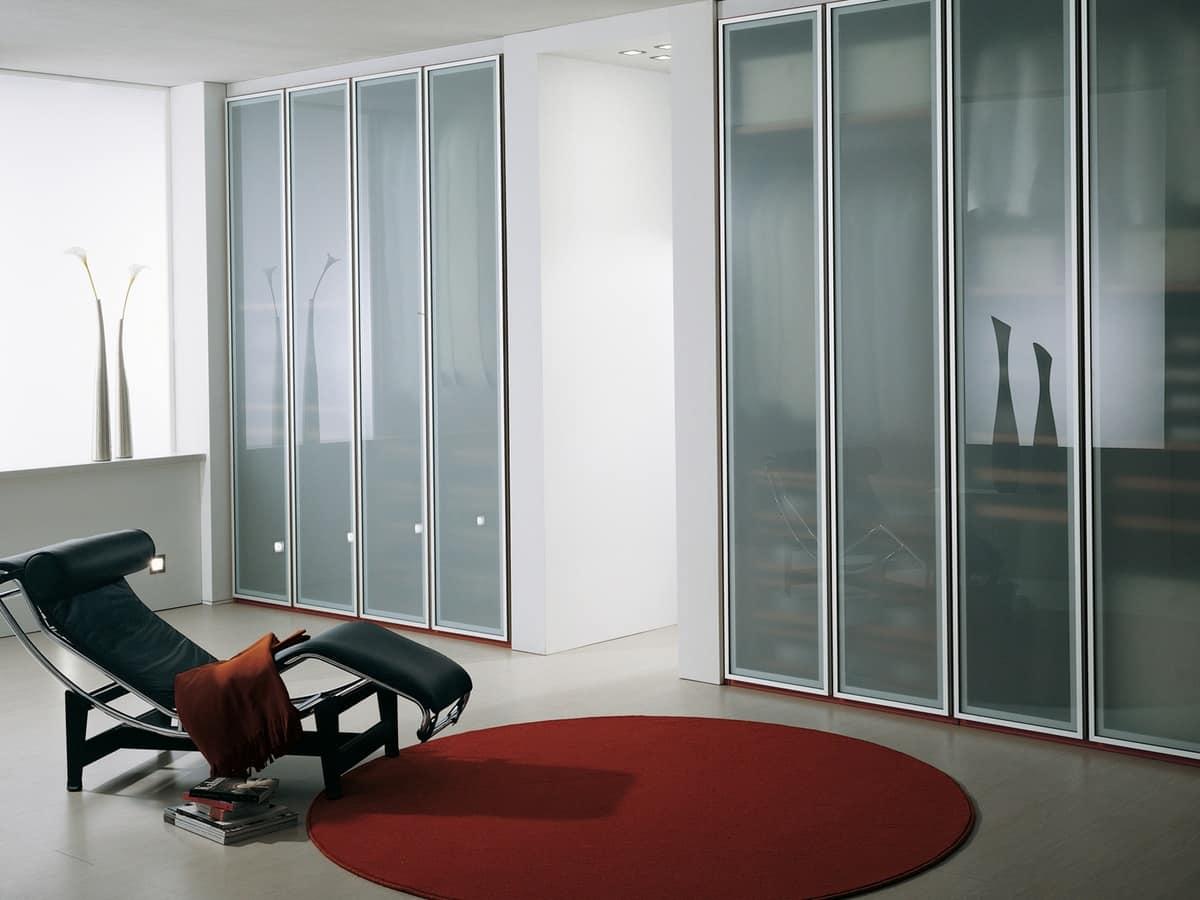 Armadio con ante in vetro opaco per la casa e l 39 ufficio for Armadio ufficio con chiave