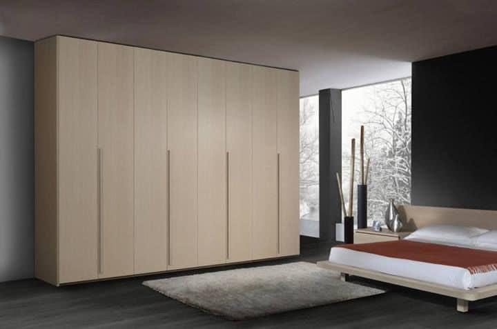 Armadio moderno in legno 6 ante battenti per camere da for Immagini mobili moderni