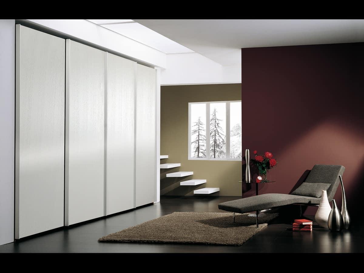 armadio con 4 ante in stile minimalista per alberghi