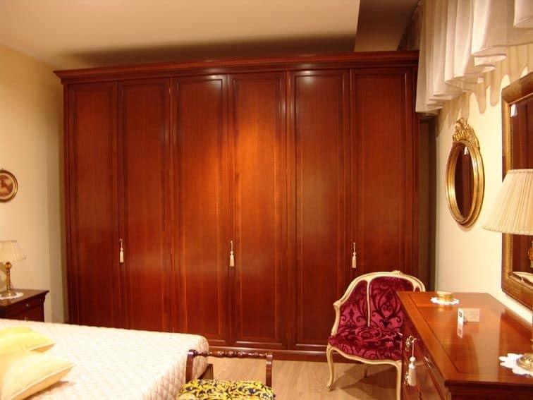 Armadio con 6 ante in ciliegio per camere da letto idfdesign - Camera da letto in ciliegio ...