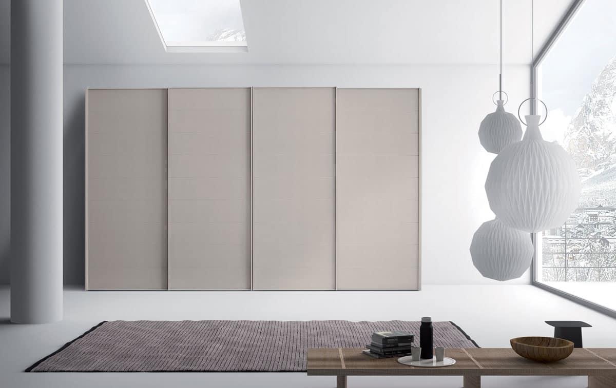 Armadio ante scorrevoli per camere da letto idfdesign for Armadi design moderno