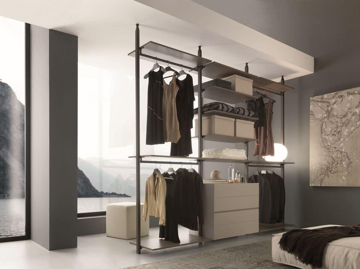 Armadio senza ante per camera da letto montaggio a parete for Armadio camera da letto