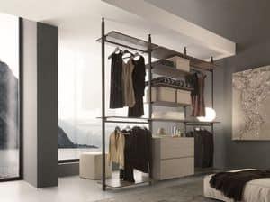 dl300 gotheborg, Armadio senza ante per camera da letto, montaggio a parete